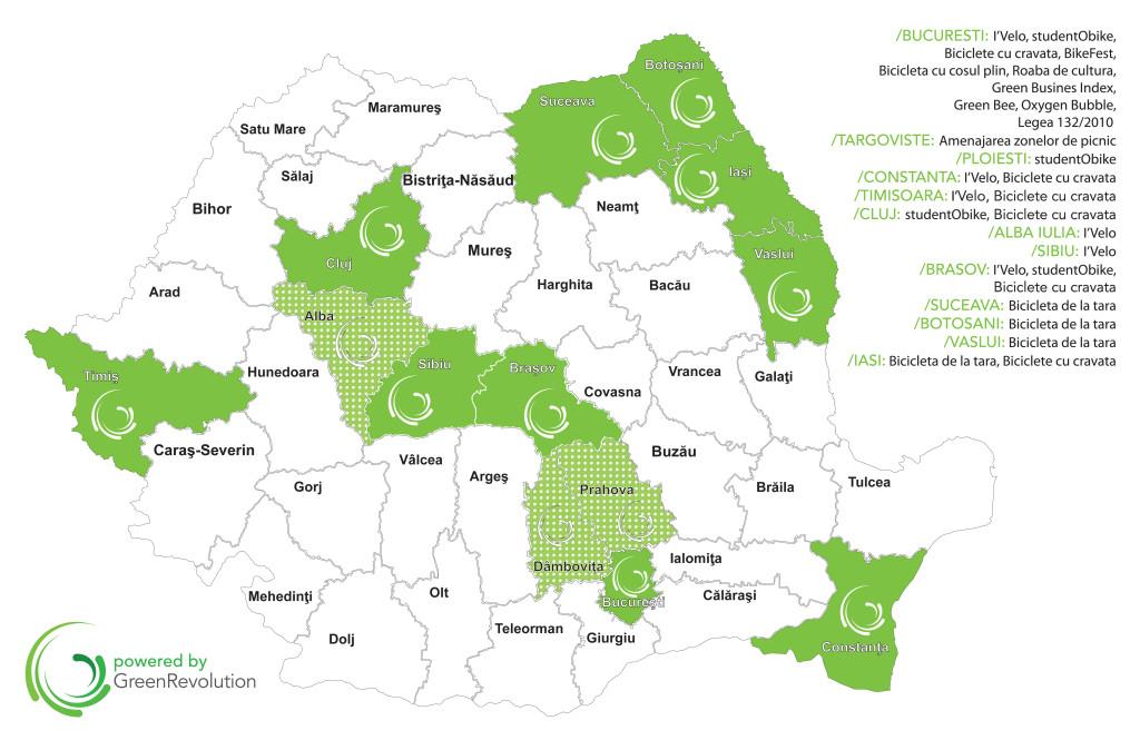 Harta Romaniei-proiecte 2014